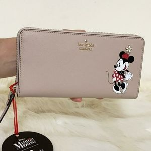 ⚜KATE SPADE Minnie mouse lacey wallet